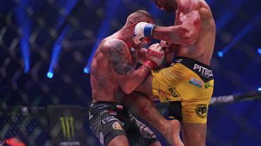 Marian Ziółkowski podczas ostatniej walki w KSW. Źródło: Twitter.com/KSW_MMA