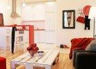 Mieszkanie po metamorfozie: czerwony rządzi!