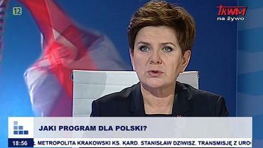 Beata Szydło w Telewizji Trwam