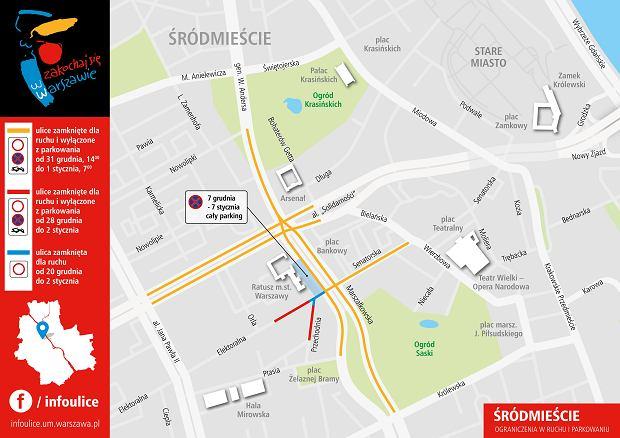 Zmiany w komunikacji miejskiej i zamknięte ulice