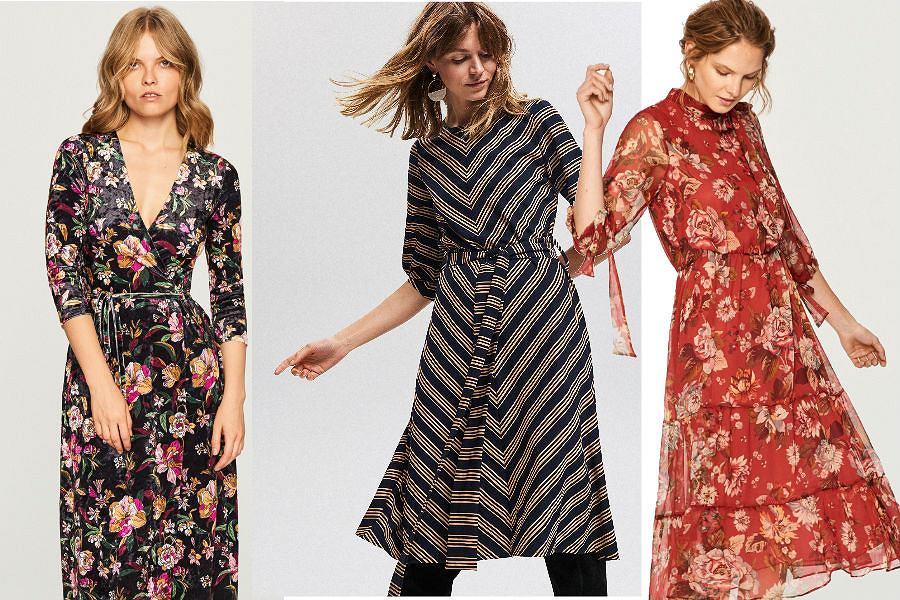 Sukienki w kwiaty i wzory inspirowane modą lat 70. to hit sezonu