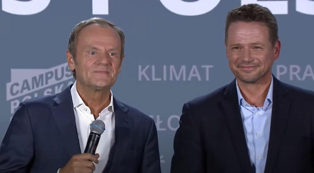 Donald Tusk, Rafał Trzaskowski