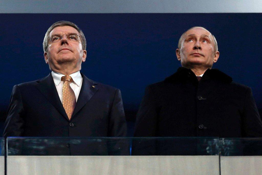 Thomas Bach i Władimir Putin