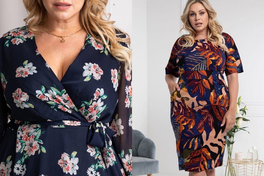 sukienki plus size w kwiaty