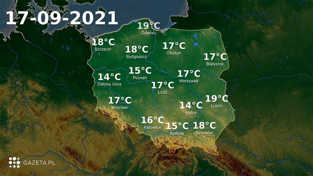 Temperatura w piątek 17 września