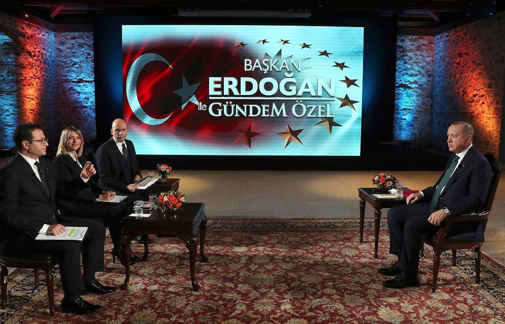 Erdogan w telewizji Haber