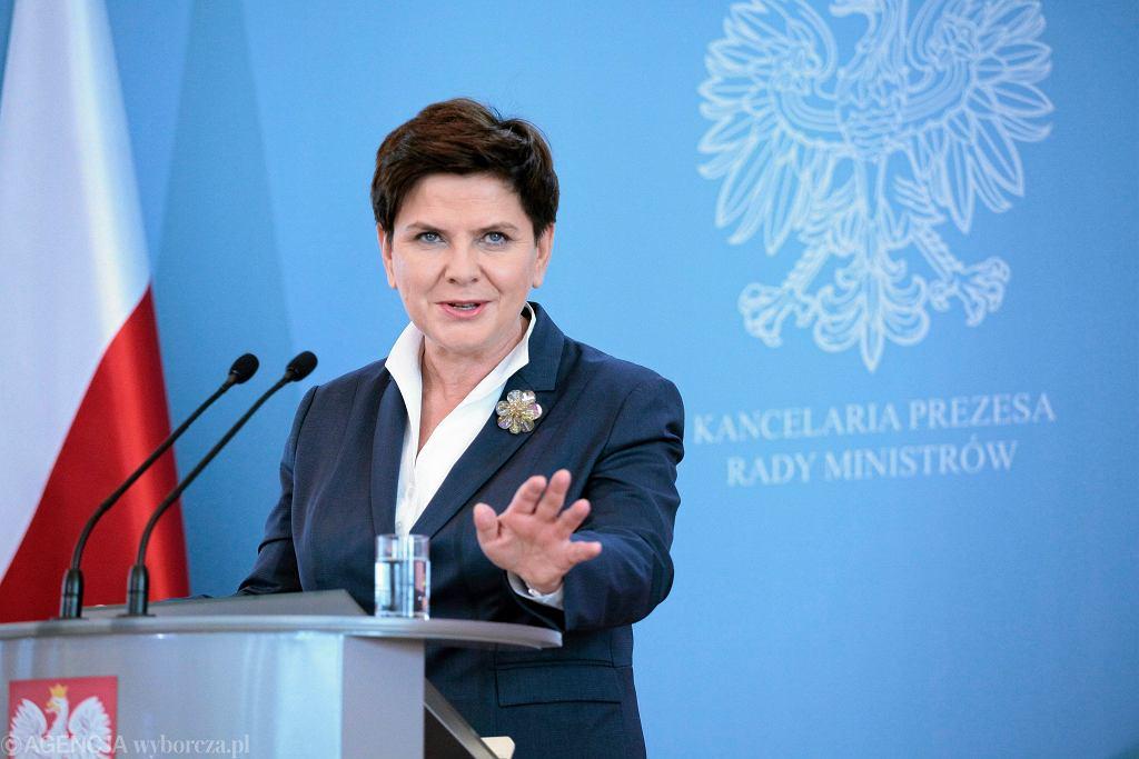 Beata Szydło, była premier.