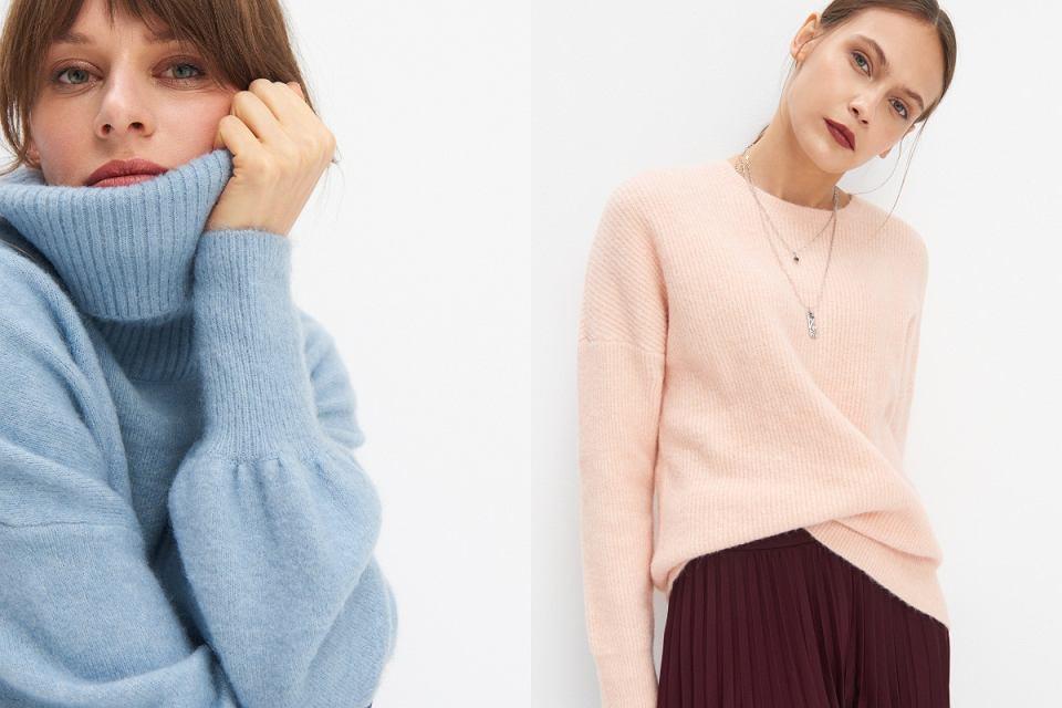 Pastelowe swetry z wyprzedaży
