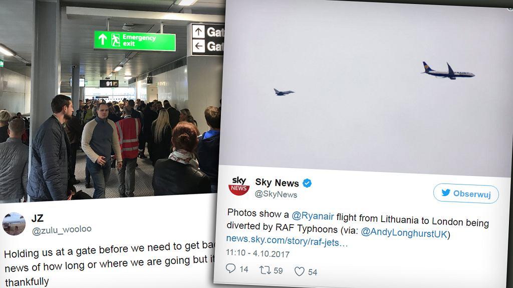 Alarm bezpieczeństwa na pokładzie Ryanaira