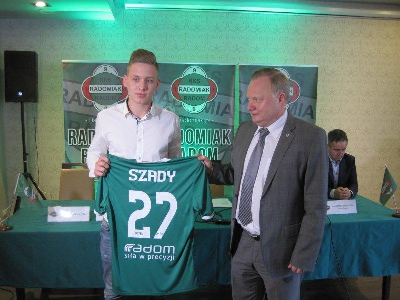 Jednym z młodzieżowych zawodników Radomiaka jest bramkarz - Adrian Szady