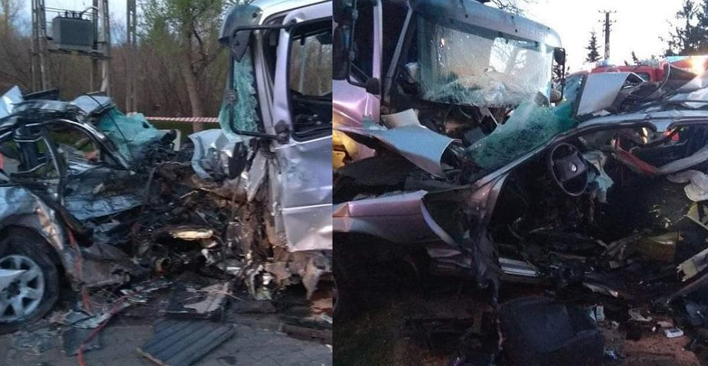Zdjęcia z wypadku w Błoniach w województwie mazowieckim (fot. OSP Błonie)