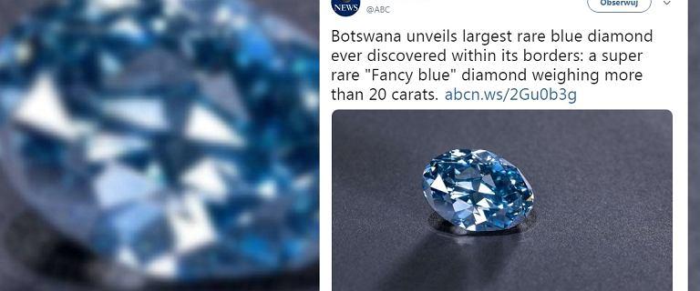 Znaleziono największy niebieski diament