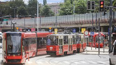 Tramwaje w centrum Chorzowa