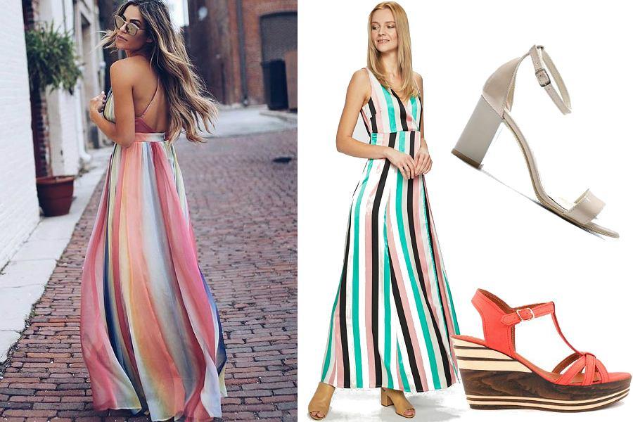 Sukienki maxi dla niskich
