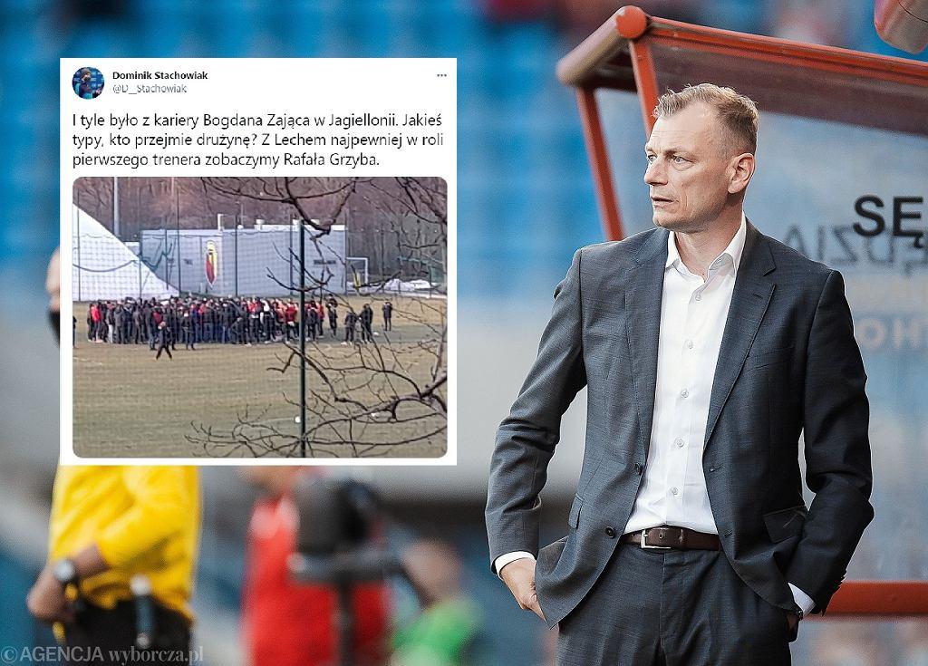 Kibice Jagiellonii nie chcą już Bogdana Zająca w swoim klubie