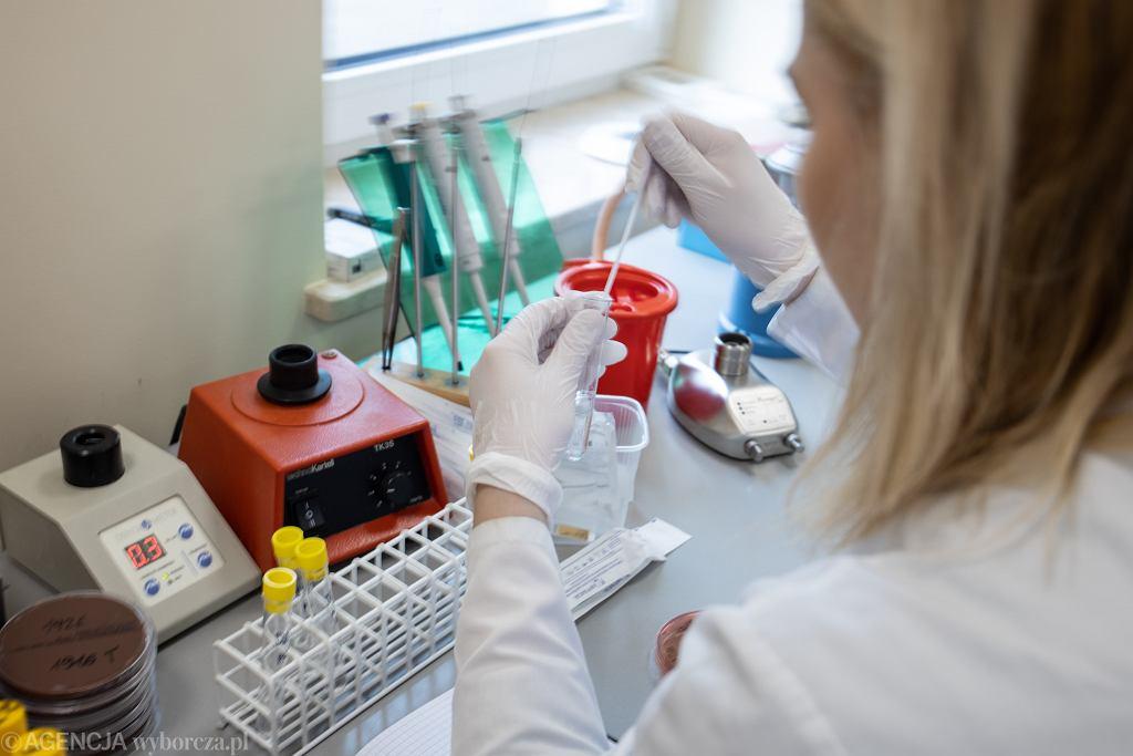 Testy na obecność koronawirusa.