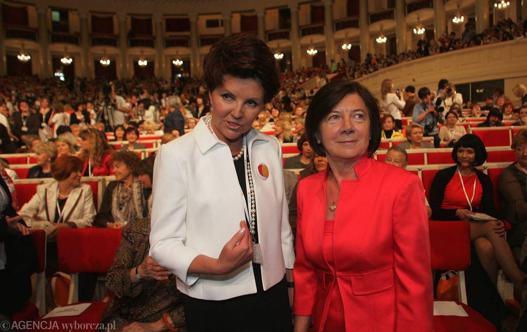Jolanta Kwaśniewska i Maria Kaczyńska