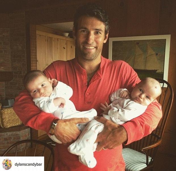 Mąż Dylan Lauren z bliźniakami