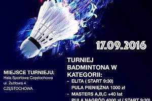 Kolejarz zaprasza na Grand Prix Częstochowy w Badmintonie