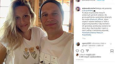 Kim jest żona Michała Żebrowskiego? Poznali się, gdy była nastolatką, ma 7 rodzeństwa i była w ciąży w tym samym czasie co mama