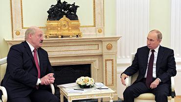 Aleksander Łukaszenka i Władimir Putin spotkali się w Moskwie, gdzie rozmawiali między innymi o integracji Rosji i Białorusi (zdjęcie ze spotkania)