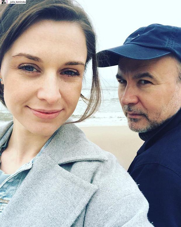 Julia Kamińska z partnerem