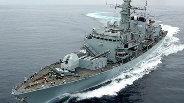 HMS 'Montrose', który odpędził irańskie kutry