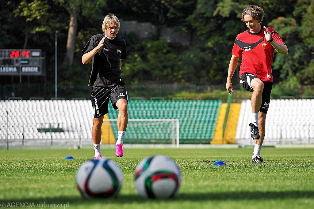 Trening piłkarzy Lechii. Milos Krasić