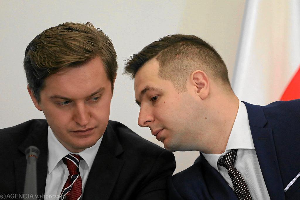 Sebastian Kaleta (z lewej) i Patryk Jaki