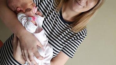 Emilia Szczęsna z córką
