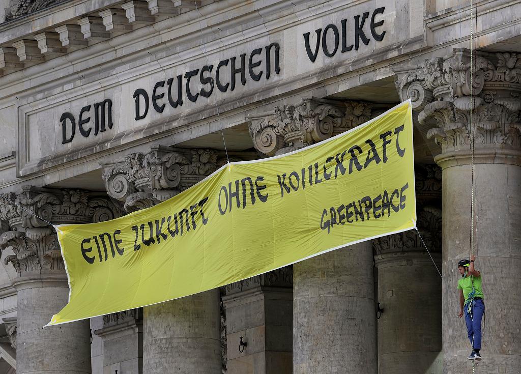 Protest Greenpeace w Niemczech ws. węgla