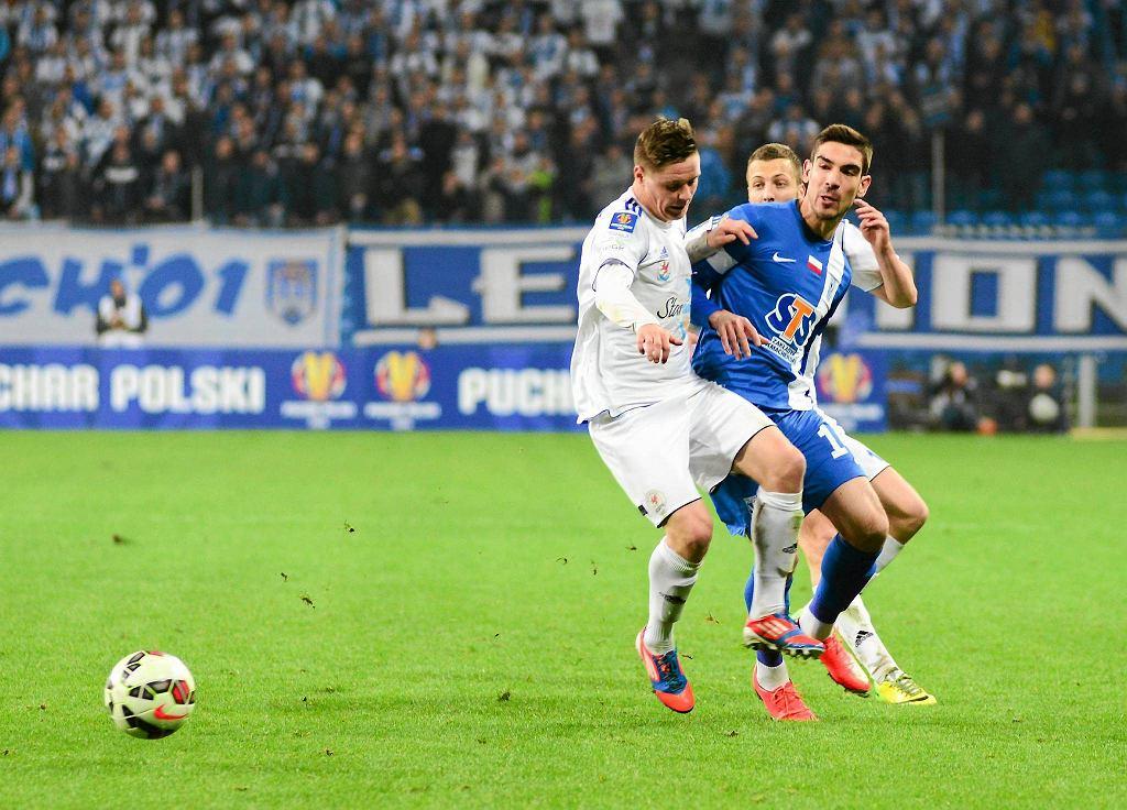 Lech Poznań - Błękitni Stargard Szczeciński 5:1 w Pucharze Polski. Vojo Ubiparip