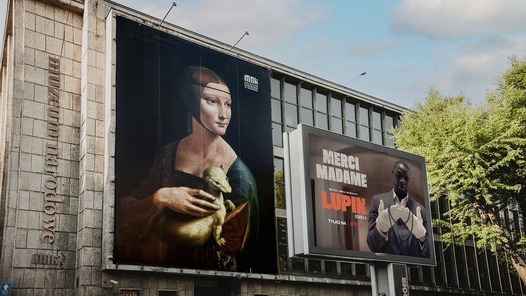Premiera 2. sezonu serialu 'Lupin' na Netfliksie. Niecodzienna reklama na Muzeum Narodowym w Krakowie