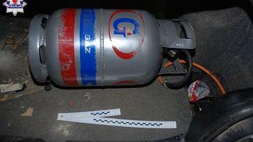 Zasilał BMW domową butlą gazową