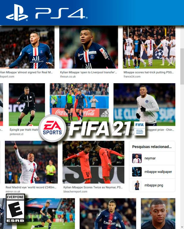 Żartobliwe okładki FIFA 21