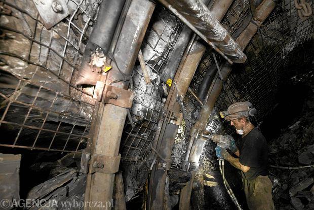 Na zdjęciu górnicy podczas pracy.
