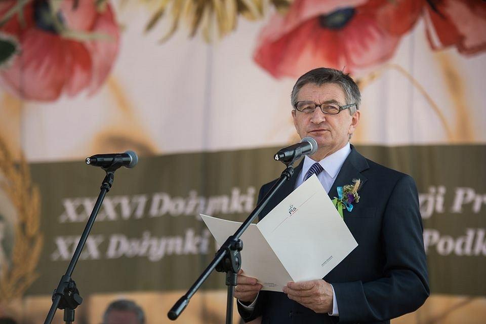 Marek Kuchciński na dożynkach w Markowej
