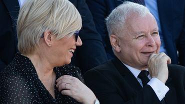 80. rocznica wybuchu II wojny światowej. Na zdjęciu: Jarosław Kaczyński i Julia Przyłębska