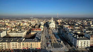 Widok z drona na Pragę-Południe