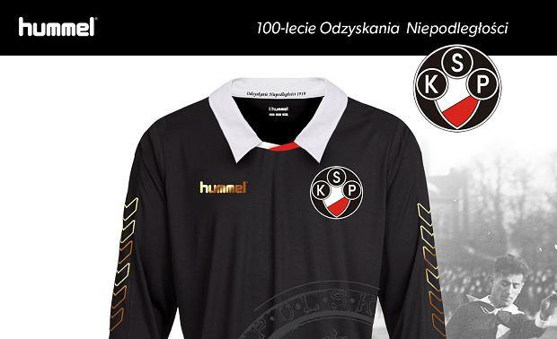 Koszulka Polonii Warszawa upamiętniająca 100. rocznicę odzyskania niepodległości przez Polskę