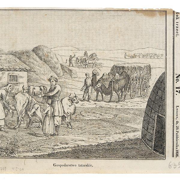 Gospodarstwo tatarskie (drzeworyt z1836 r.)