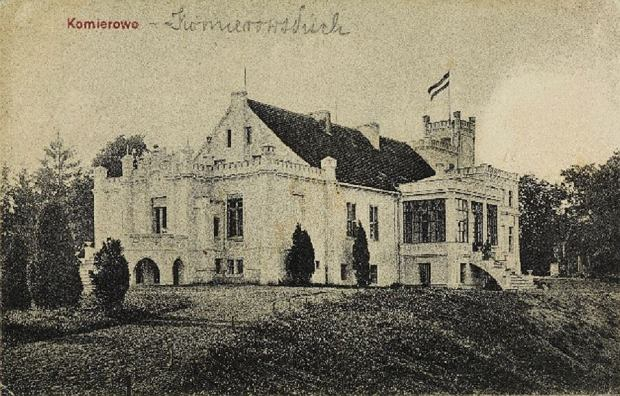Pałac w Komierowie kiedyś