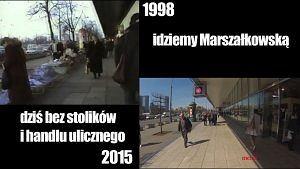 Spacer po centrum Warszawy w 1998 roku i dziś
