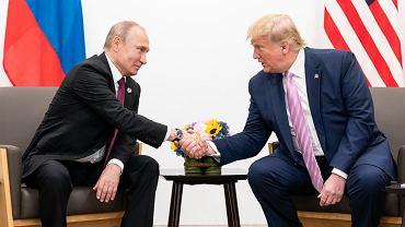 Spotkanie Władimira Putina z Donaldem Trumpem podczas szczytu G20 w Osace (2019 r.)