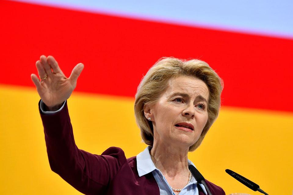 Ursula von der Leyen podczas kongresu CDU Hamburg, 8 grudnia 2018 r.