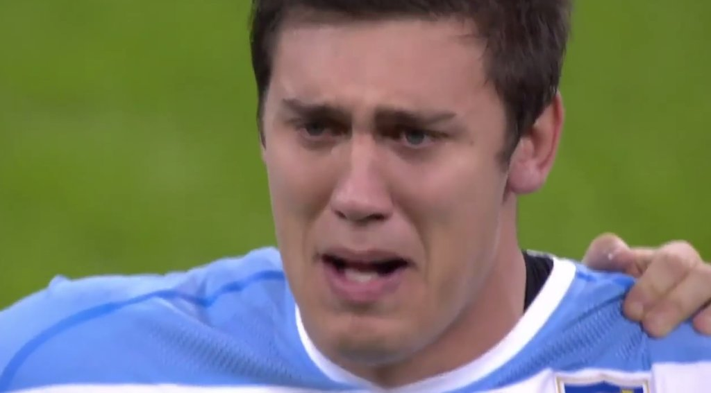 Zapłakany argentyński rugbysta