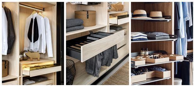 Wysuwane szuflady i półki (1 i 2 - marki Raumplus, 3 - marki Peka)