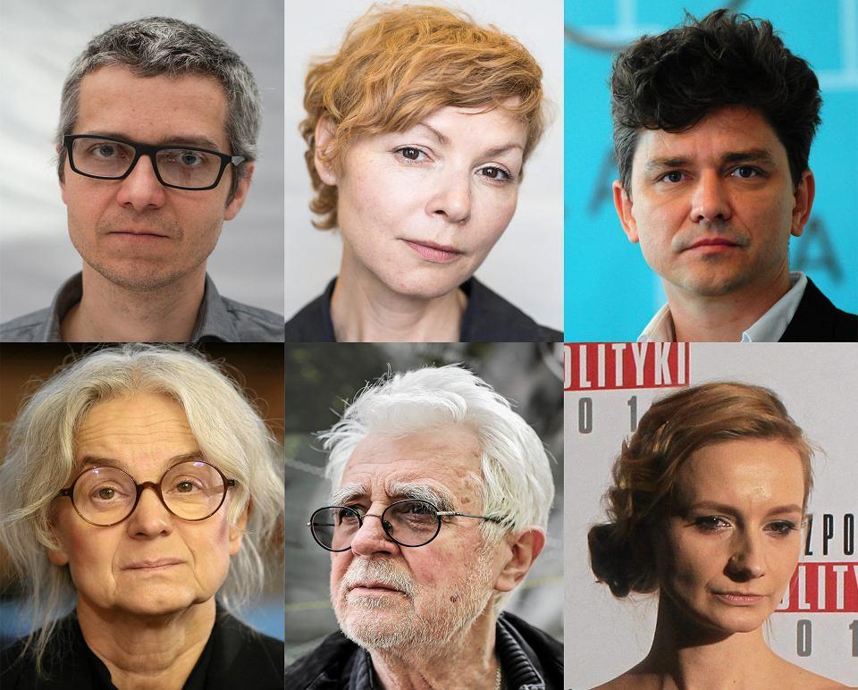Górny rząd: Michał Zadara, Agnieszka Glińska i Grzegorz Jarzyna, dolny rząd: Anna Augustynowicz, Krystian Lupa i Ewelina Marciniak