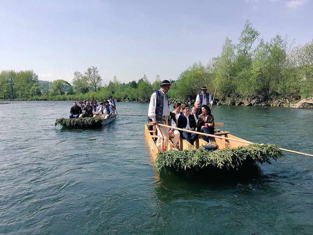 Beata Szydło na spływie Dunajcem