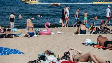 Plaża Brzeźno. Gdańsk, 27 czerwca 2019